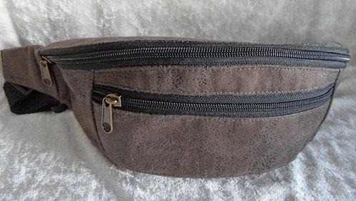 Gurt-/Bauch-Tasche dunkelbraun, Gurt und Zipper schwarz