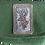 """Thumbnail: Dirndl- oder Gürtel-Tasche moosgrün mit Klappe, Stickerei-Emblem """"Rehbock"""""""