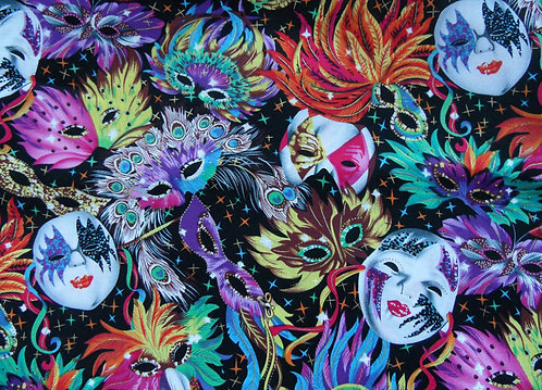 "Maske ""Carneval"" schwarz, bunt"
