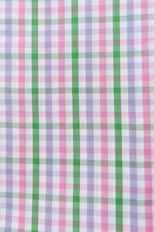Linien-Karo weiß-flieder-rosa-grün