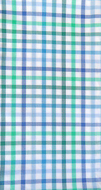 Linien-Karo weiß-Blau-Türkis- und Grün-Töne