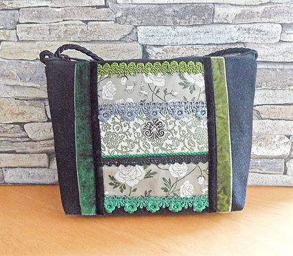 Kordel-Tasche, Trachtenseide, Bänder
