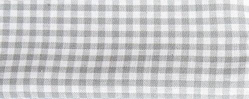 Maske Karo hellgrau-weiß ( ideal für Stickerei)