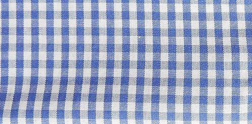 Maske Karo blau-weiß ( ideal für Stickerei)