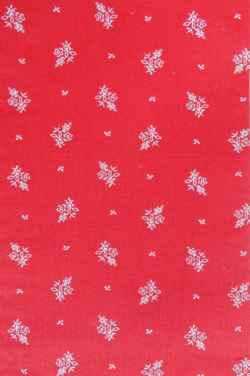 Kirsch-rot, weiß bedruckt