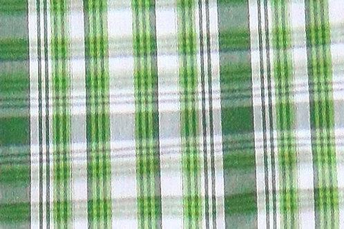 Maske weiß-grün Karo