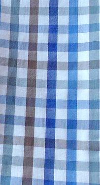 Karo weiß-braun-verschieden Blau-Töne