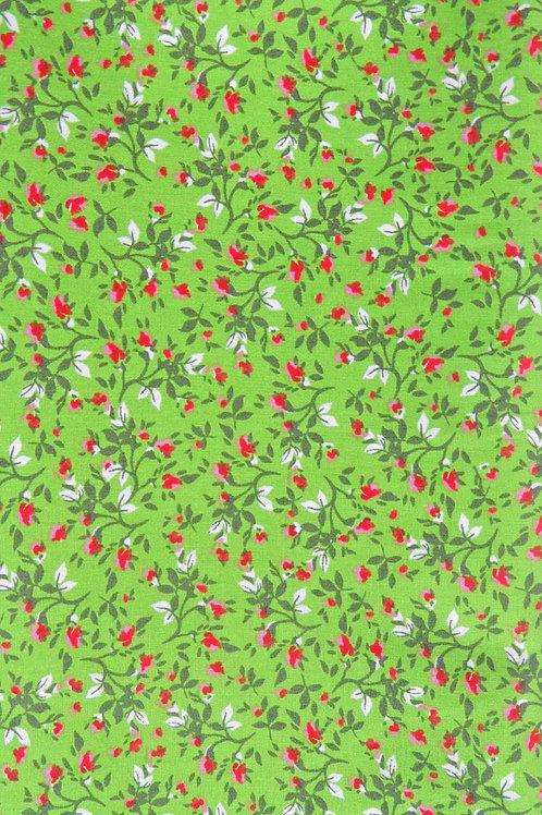 Apfel-grün, bedruckt in dunkelgrün, rot, weiß