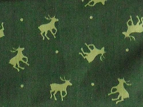 Maske mit Hirsch und Punkten, moos-grün, Apfel-grün
