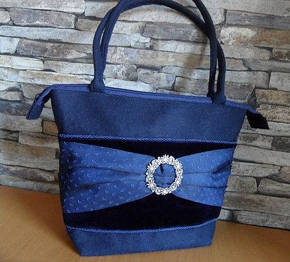 Henkel-Tasche dunkelblau