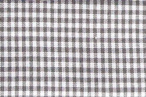 Maske Karo grau-braun - weiß ( ideal für Bestickung )