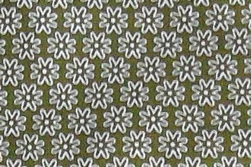 Maske Stern-Blüten moosgrün, weiß