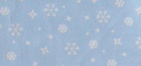 Maske hellblau mit Schneeflocken