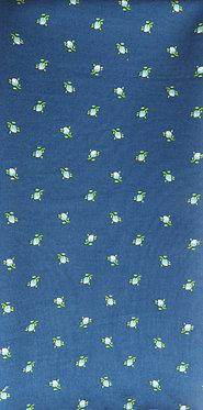 Mittelblau, bedruckt in weiß, hellgrün