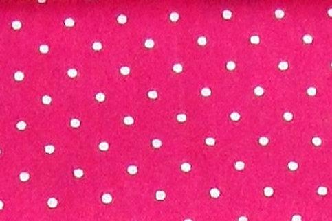 Maske pink mit weißen Tupfen