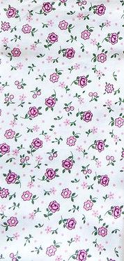Halstuch cremeweiß mit rosa Blümchen
