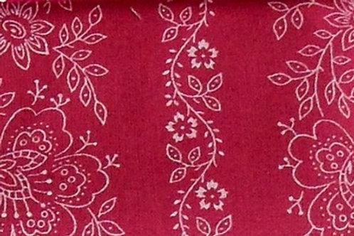 Maske zyklam-pink mit weißen Blumen-Ranken