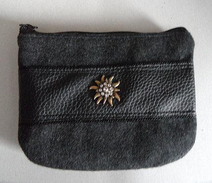 Dirndl- oder Gürtel-Tasche grau, mit