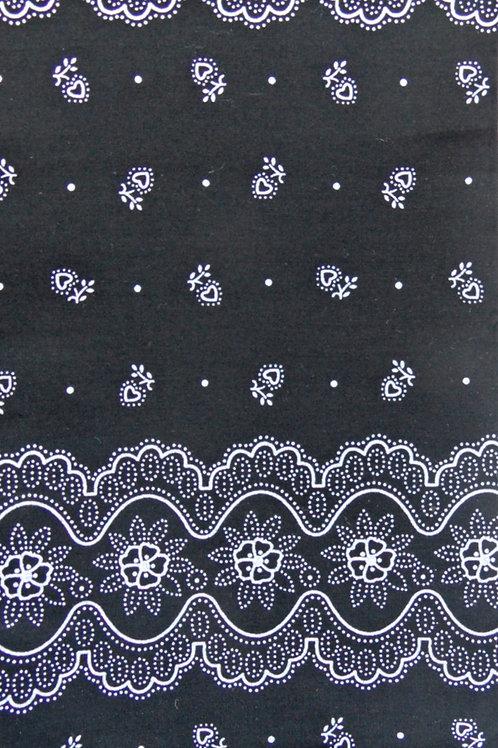 schwarz, weiß bedruckt