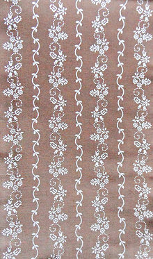 Nougat-braun, weiß bedruckt