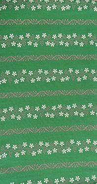 dunkelgrün, lila, weiß bedruckt
