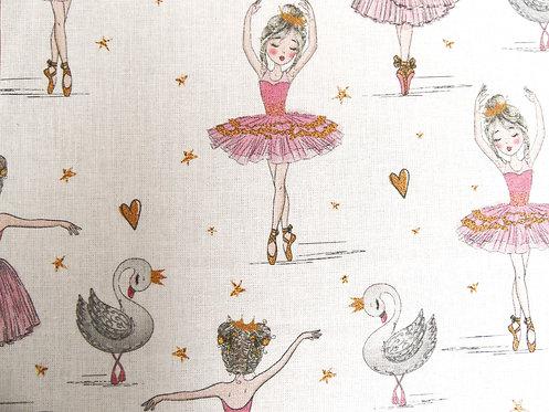 """Kinder-Maske """"Tänzerin"""", weiß-rosa-pink"""