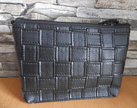 geflochtenes textiles Leder schwarz