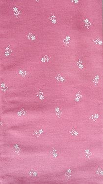 rosa, weiß bedruckt