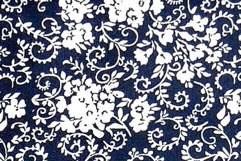 Maske dunkelblau, weiß bedruckt