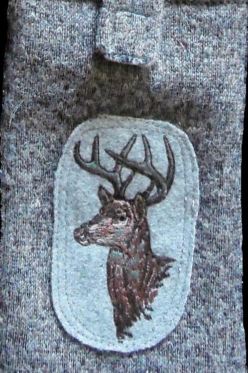 """Handy-Tasche mit Stickerei-Emblem """"Rehbock"""""""