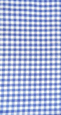 Karo Kornblumen-blau, weiß
