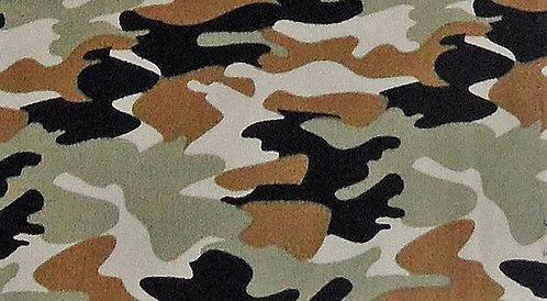 Maske Camouflage ocker-schwarz-lindgrün