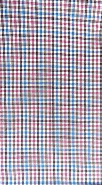 Linien-Karo weiß-braun-pink-blau