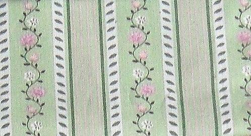 Maske lindgrün-weißmoosgrün-rosa bedruckt