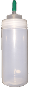 Wide Mouth, translucent 16oz LDPE bottle