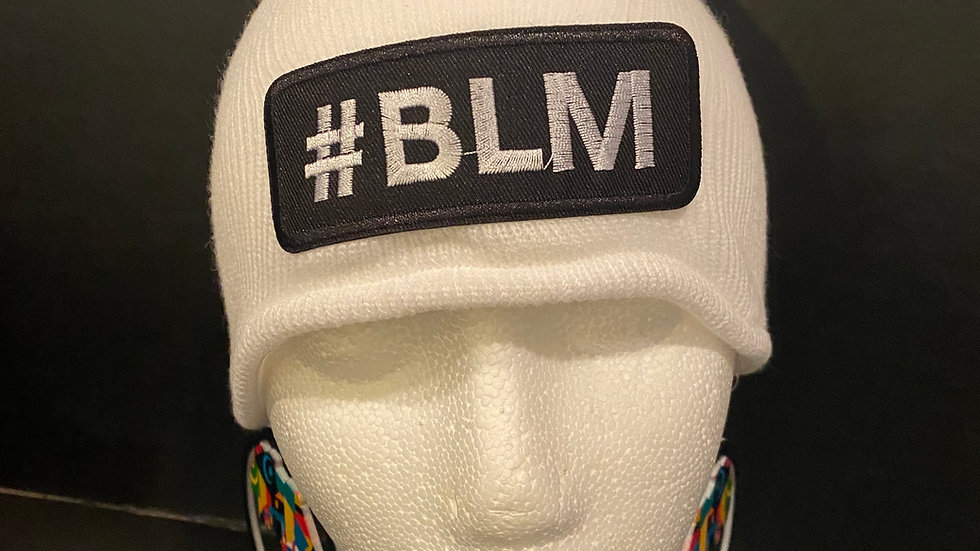 #BLM Knitted Hat (White)