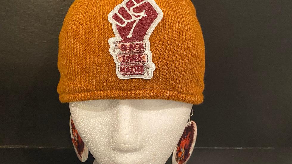 BLM Knitted Cap (Orange(