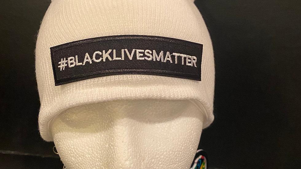 #Black Lives Matter Knitted Hat (White)