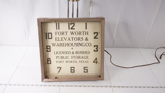 Advertising Clock - Fort Worth Elevators And Warehousing Co