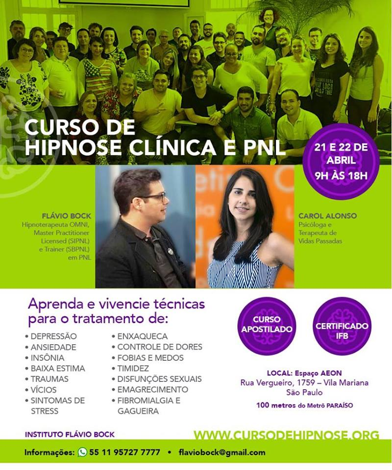 Curso Hipnose Vila Mariana - Paraíso