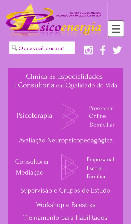 Site mobile Psicoenergia