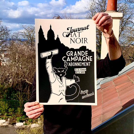 Affiche Grande Campagne d'Abonnement Noire