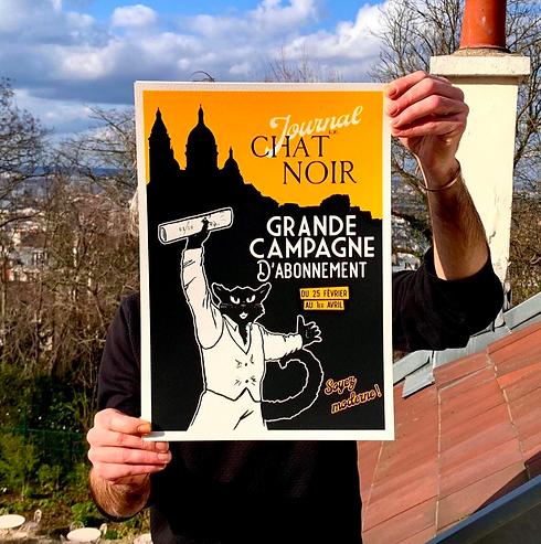 Affiche de la Grande Campagne d'Abonnement du Journal le Chat Noir