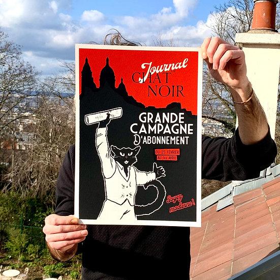 Affiche Grande Campagne d'Abonnement Rouge