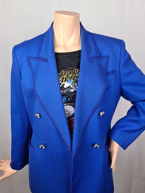 Blazer bleu électrique 80's