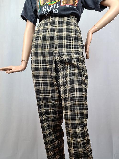 Pantalon neuf imprimé prince de galles 80's