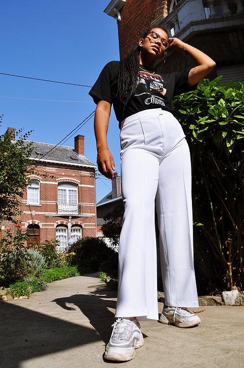 Pantalon à pinces blanc 60's