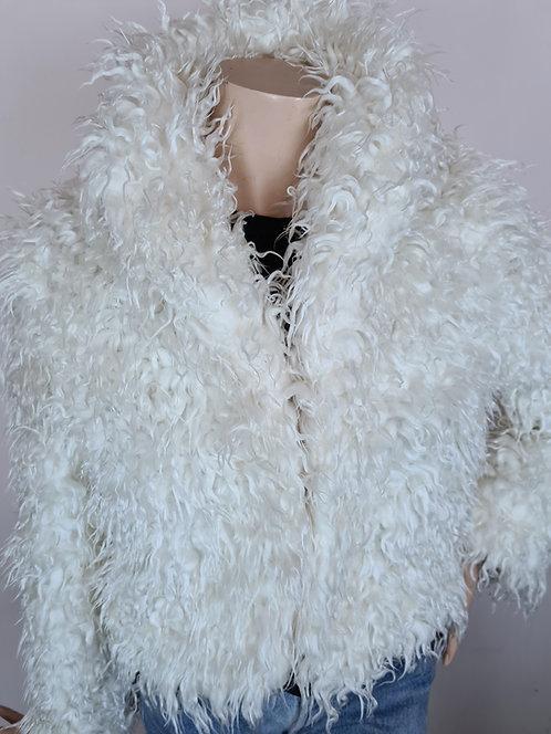 Veste blanche fluffy 90's