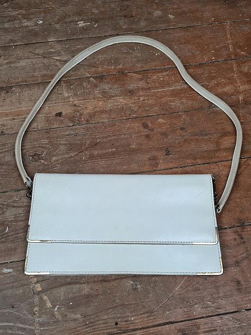 Petit sac à main en cuir blanc 70's