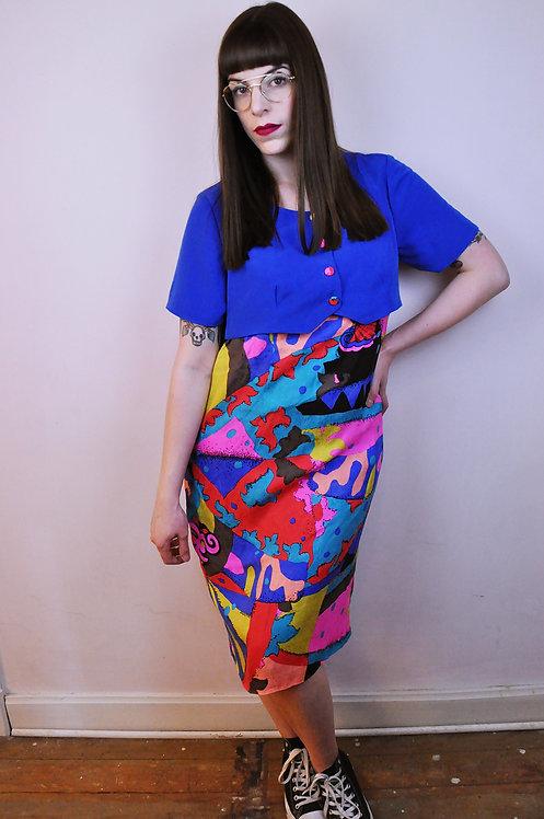 Robe multicolore 80/90's
